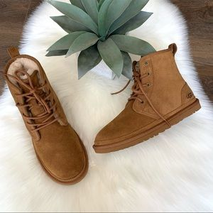 UGG Harkley Brown Boots New Suede Size 8